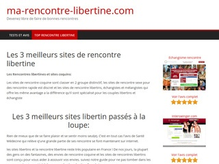 comparatif sites rencontres places libertine