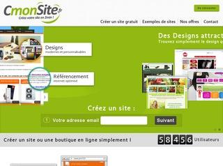 avis cr er un site internet en 2 minutes avec cmonsite avis site. Black Bedroom Furniture Sets. Home Design Ideas