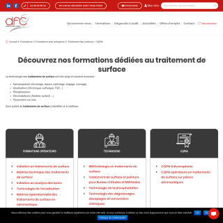 Formation traitement de surface