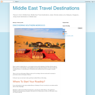 Middle East Travel Destinations