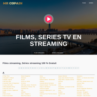Mr Copain, regarder des films en streaming